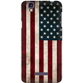 RAYITE Classic American Flag Premium Printed Mobile Back Case Cover For Micromax Yureka