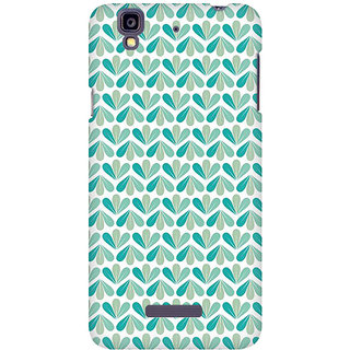 RAYITE LeafPattern Premium Printed Mobile Back Case Cover For Micromax Yureka