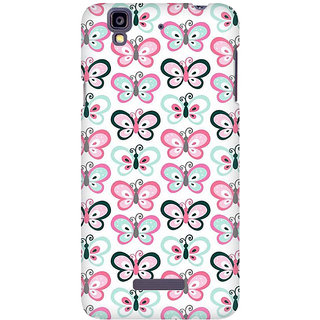 RAYITE Butterflies Pattern Premium Printed Mobile Back Case Cover For Micromax Yureka