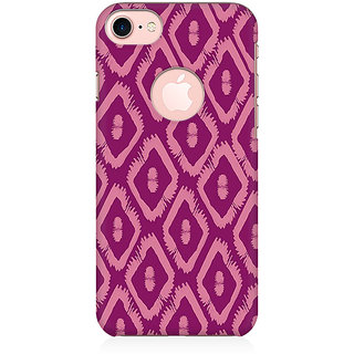 RAYITE Purple Geometric Pattern Preum Printed Mobile Back Case Cover For   7 With Round Cut