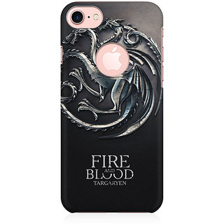 RAYITE Fire Blood GOT Preum Printed Mobile Back Case Cover For   7 With Round Cut