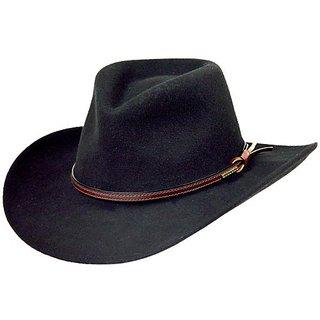 Stetson Men's Bozeman Wool Felt Crushable Cowboy Hat Black Small