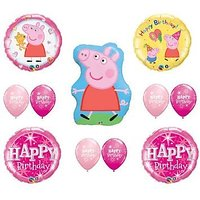 PEPPA PIG Happy Birthday PINK Balloon Set