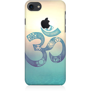 the latest b4593 c977c RAYITE Om Print Premium Printed Mobile Back Case Cover For Apple IPhone 7  Apple Logo Cut