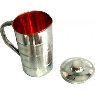 Copper Jug With Stainless Steel FInish