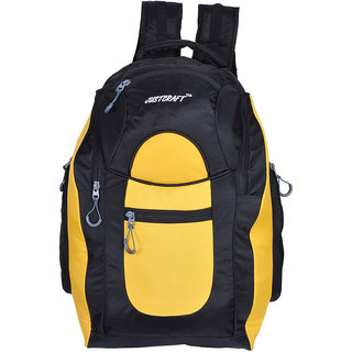 Justcraft Jabaaz Black and Yellow 45 Liters Laptop Backpack