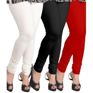 Sizzlacious Cotton Lycra Pack Of 3 Leggings