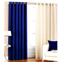 Plain Silky Door Curtain (Pack Of 2) - 10 Option