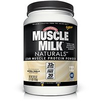 Muscle Milk Naturals Protein Powder, Natural Vanilla, 3