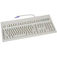 104KEY PS2 Keyboard Beige Pc Win IBM Layout Rohs