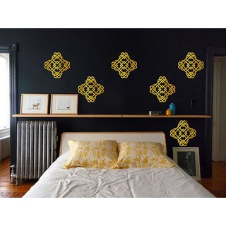 Buy Decor Villa Diya Golden Motif Wall Sticker 6 Qty Online