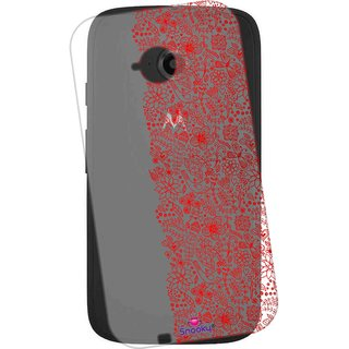 finest selection af0aa df8c8 Snooky Printed Transparent Silicone Back Case Cover For Motorola Moto E  (2nd Gen)