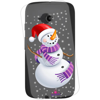 Snooky Printed Transparent Silicone Back Case Cover For Motorola Moto E (2nd Gen)