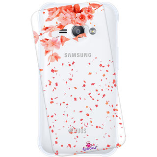 san francisco 5e054 571a7 Snooky Printed Transparent Silicone Back Case Cover For Samsung Galaxy J1  Ace