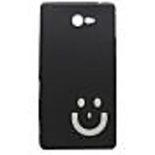 buy popular 7e90b 79d5c Black Smiley Back Case Cover For Sony Xperia M2 Dual