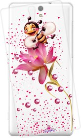 Snooky Printed Transparent Silicone Back Case Cover For Sony Xperia C5 Ultra