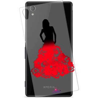 Snooky Printed Transparent Silicone Back Case Cover For Sony Xperia Z4