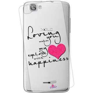 Snooky Printed Transparent Silicone Back Case Cover For XOLO One