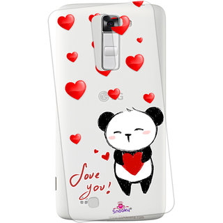 Snooky Printed Transparent Silicone Back Case Cover For LG K10