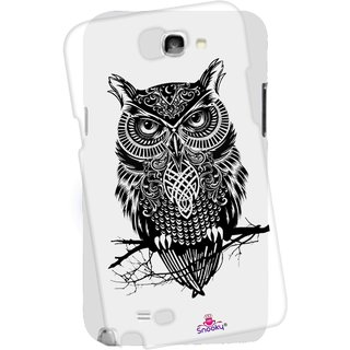 Snooky Printed Transparent Silicone Back Case Cover For Samsung Galaxy Note 2