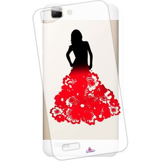 Snooky Printed Transparent Silicone Back Case Cover For Vivo V1
