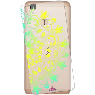 Snooky Printed Transparent Silicone Back Case Cover For Vivo V3