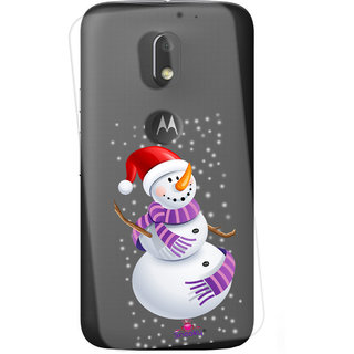 Snooky Printed Transparent Silicone Back Case Cover For  Motorola Moto E3 Power