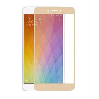 Redmi note4 Full tempered glass (golden) edge to edge cover By bodoma