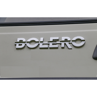 MAHINDRA BOLERO CAR MONOGRAM /LOGO/EMBLEM chrome emblem AS SHOWN IN PICTURE