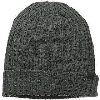 Dockers Men's 2X2 Rib Knit Beanie,Charcoal,One Size