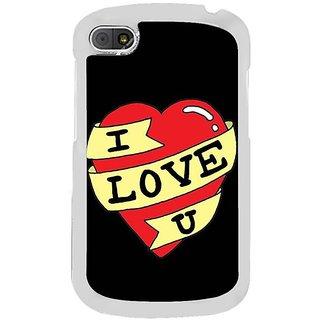 Fuson Designer Phone Back Case Cover Blackberry Q10 ( A Heart That Loves You )