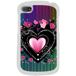 Fuson Designer Phone Back Case Cover Blackberry Q10 ( A Big Shower Of Hearts )