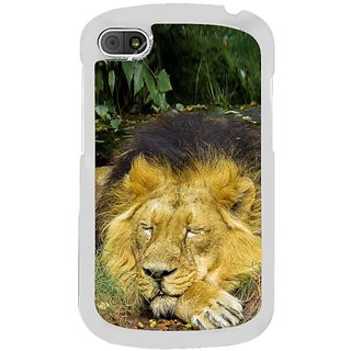 Fuson Designer Phone Back Case Cover Blackberry Q10 ( Lion Taking A Break )