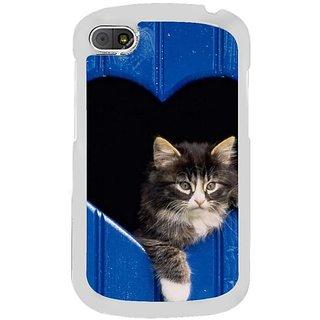 Fuson Designer Phone Back Case Cover Blackberry Q10 ( Cat In A Heart )
