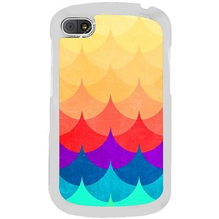 Fuson Designer Phone Back Case Cover Blackberry Q10 ( Multi- Colored Pretty Waves )