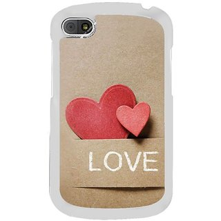 Fuson Designer Phone Back Case Cover Blackberry Q10 ( Peeping Hearts )