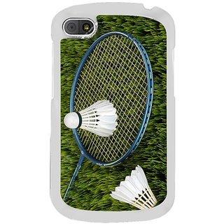 Fuson Designer Phone Back Case Cover Blackberry Q10 ( Badminton All The Way )