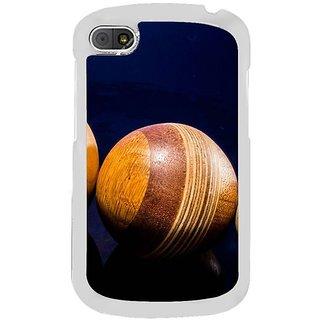 Fuson Designer Phone Back Case Cover Blackberry Q10 ( The Shine Of Wooden Balls )