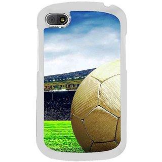Fuson Designer Phone Back Case Cover Blackberry Q10 ( Football Ready For Kick Off )