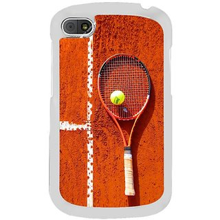 Fuson Designer Phone Back Case Cover Blackberry Q10 ( Playing Tennis On Clay Court )