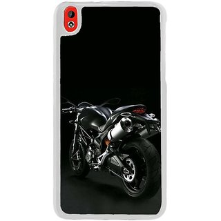 Fuson Designer Phone Back Case Cover HTC Desire 816 ( Back View Of The Bike )