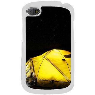 Fuson Designer Phone Back Case Cover Blackberry Q10 ( A Tent Under The Night Sky )