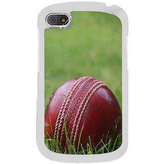 Fuson Designer Phone Back Case Cover Blackberry Q10 ( A Cricket Ball On Grass )