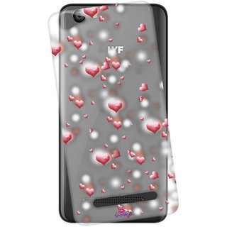 low priced 59e71 a00d9 Snooky Printed Transparent Silicone Back Case Cover For Lyf Wind 6