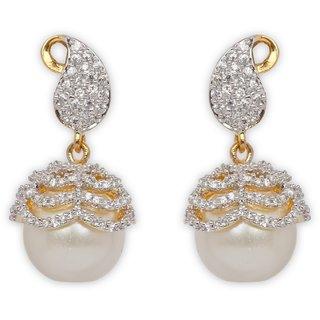 The Enchanted Cubic Zircon Drop Earrings-019