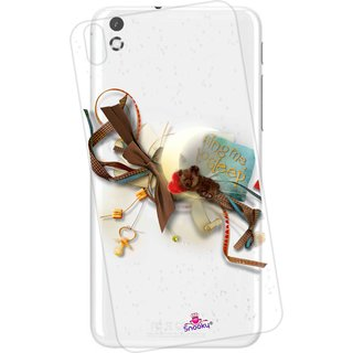 Snooky Printed Transparent Silicone Back Case Cover For HTC Desire 816