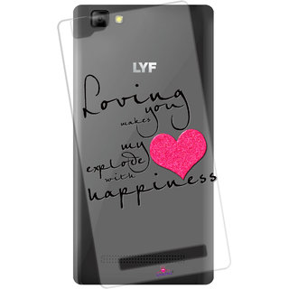 Snooky Printed Transparent Silicone Back Case Cover For Lyf Wind 7