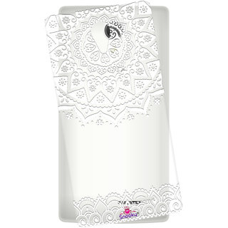 Snooky Printed Transparent Silicone Back Case Cover For Intex Aqua Wing