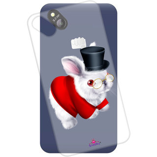 Snooky Printed Transparent Silicone Back Case Cover For Micromax Bolt D303