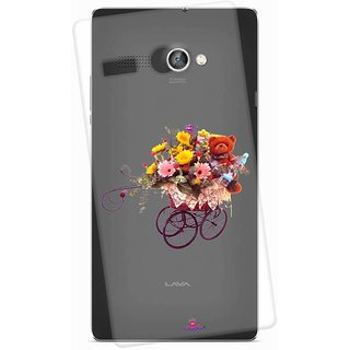 Snooky Printed Transparent Silicone Back Case Cover For Lava Flair P1